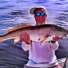 Sam with a Bull Red