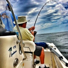 Dave fighting a monster Black Drum