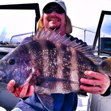 Matt with a 10 pound Sheepshead
