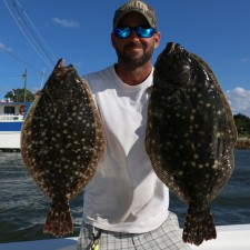 Jonathan Clark with a couple of stuf Flounder
