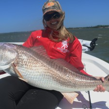 Ashley with a 40 inch club Bull Red