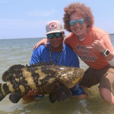 Robert with a rare Mayport Goliath Grouper