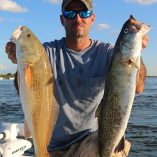 Large Gator Trout and an upper slot Red Fish