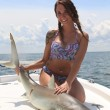 Chelsie with a toothy critter